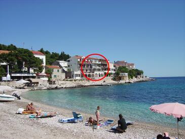 Milna, Hvar, Объект 12244 - Апартаменты вблизи моря с галечным пляжем.