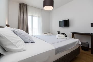 Selce, Ložnice v ubytování typu room, s klimatizací a WiFi.