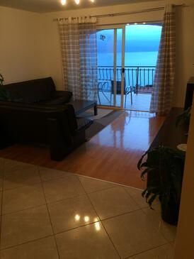 Stanići, Obývacia izba v ubytovacej jednotke apartment, dostupna klima i WIFI.