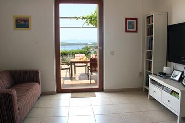 Hvar, Salon dans l'hébergement en type apartment, climatisation disponible, animaux acceptés et WiFi.