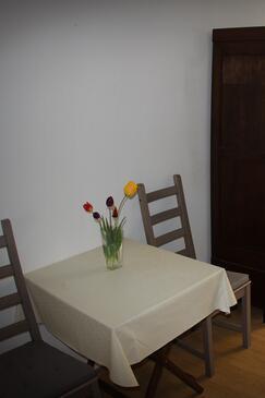 Hvar, Salle à manger dans l'hébergement en type studio-apartment, animaux acceptés et WiFi.