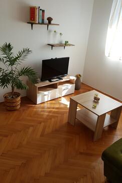 Posedarje, Obývací pokoj v ubytování typu apartment, WiFi.
