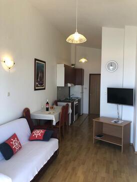 Mandre, Dnevna soba v nastanitvi vrste apartment, dostopna klima in WiFi.