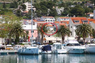Baška Voda, Makarska, Hébergement 12421 - Appartement à proximité de la mer avec une plage de galets.