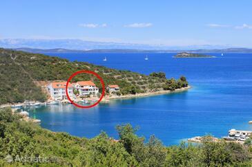 Zaglav, Dugi otok, Obiekt 12424 - Apartamenty przy morzu.