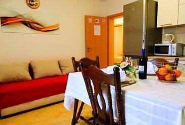 Zaklopatica, Living room in the apartment, dostupna klima, dopusteni kucni ljubimci i WIFI.