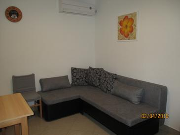 Nečujam, Гостиная в размещении типа studio-apartment, доступный кондиционер, Домашние животные допускаются и WiFi.