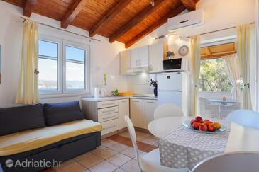 Okrug Donji, Esszimmer in folgender Unterkunftsart apartment, Klimaanlage vorhanden, Haustiere erlaubt und WiFi.