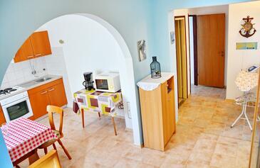 Vrsi - Mulo, Столовая в размещении типа apartment, Домашние животные допускаются и WiFi.