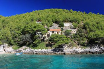 Bratinja Luka, Korčula, Property 12599 - Vacation Rentals near sea with pebble beach.