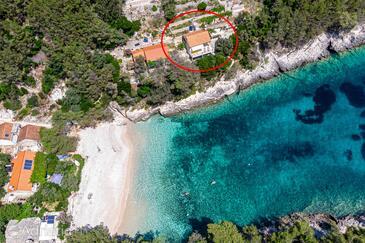 Bratinja Luka, Korčula, Объект 12599 - Дом для отдыха вблизи моря с галечным пляжем.