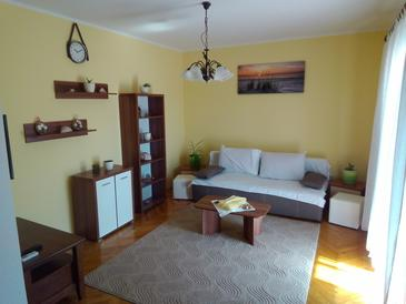 Grebaštica, Dnevna soba v nastanitvi vrste apartment, dostopna klima in WiFi.