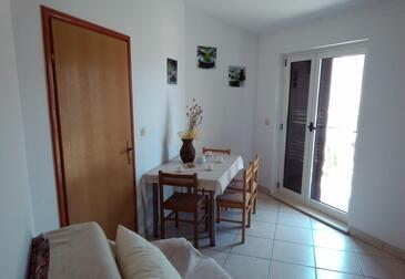 Grebaštica, Jídelna v ubytování typu apartment, WiFi.