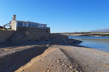 Prnjica, Pag, Objekt 12620 - Kuća za odmor blizu mora sa pješčanom plažom.
