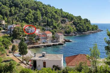 Tvrdni Dolac, Hvar, Objekt 12655 - Ubytování v blízkosti moře s oblázkovou pláží.