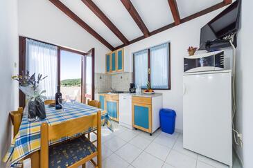 Ždrelac, Столовая в размещении типа apartment, Домашние животные допускаются и WiFi.