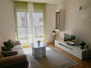 Zadar, Obývacia izba v ubytovacej jednotke apartment, WIFI.
