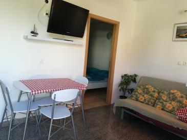 Varvari, Obývací pokoj v ubytování typu apartment, dostupna klima, dopusteni kucni ljubimci i WIFI.