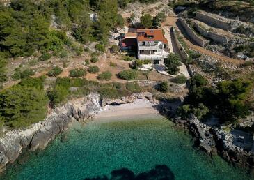 Rapak, Hvar, Hébergement 12779 - Appartement à proximité de la mer avec une plage de galets.