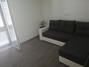 Zavala, Dnevna soba v nastanitvi vrste apartment, dostopna klima in WiFi.