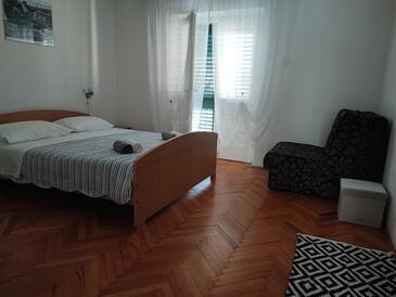 Zavala, Ložnice v ubytování typu room, s klimatizací a WiFi.