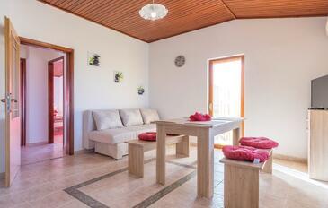 Peroj, Wohnzimmer in folgender Unterkunftsart apartment, dostupna klima, dopusteni kucni ljubimci i WIFI.