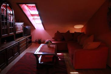 Pula, Obývací pokoj v ubytování typu apartment, WIFI.