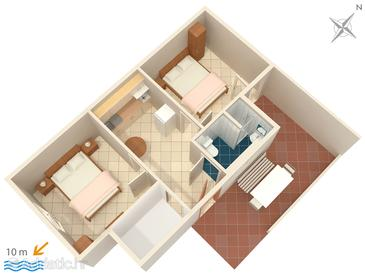 Ivan Dolac, Plan in the apartment, (pet friendly).