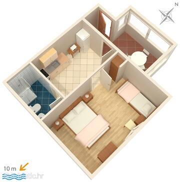Ivan Dolac, План в размещении типа apartment.