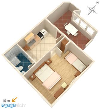 Ivan Dolac, Plan in the apartment.