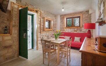 Tvrdni Dolac, Obývacia izba v ubytovacej jednotke house, WIFI.