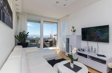 Makarska, Obývacia izba v ubytovacej jednotke apartment, WIFI.