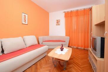 Zavalatica, Obývacia izba v ubytovacej jednotke apartment, dopusteni kucni ljubimci i WIFI.