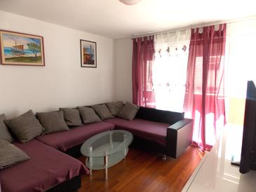 Split, Living room in the apartment, (pet friendly) and WiFi.