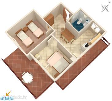 Gršćica, Plan in the apartment, WiFi.