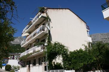 Podgora, Makarska, Objekt 13216 - Ubytování v blízkosti moře s oblázkovou pláží.