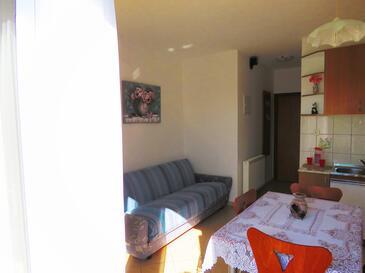 Sveti Anton, Obývací pokoj v ubytování typu apartment, dopusteni kucni ljubimci i WIFI.