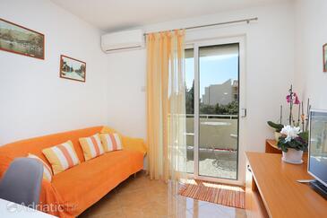 Makarska, Гостиная в размещении типа apartment, доступный кондиционер, Домашние животные допускаются и WiFi.