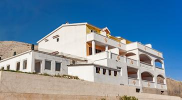 Pag, Pag, Property 13355 - Apartments and Rooms with pebble beach.