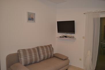 Grebaštica, Obývací pokoj v ubytování typu apartment, WiFi.