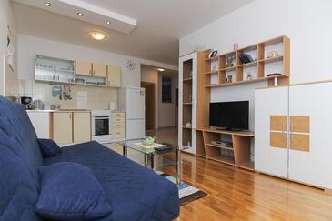Makarska, Гостиная 1 в размещении типа apartment, доступный кондиционер и WiFi.