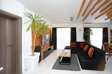 Bibinje, Гостиная 1 в размещении типа house, доступный кондиционер и WiFi.