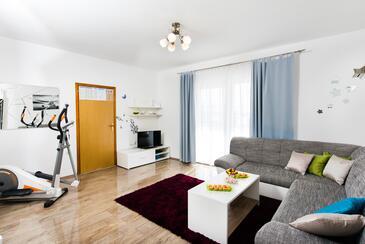 Podstrana, Гостиная в размещении типа apartment, доступный кондиционер, Домашние животные допускаются и WiFi.