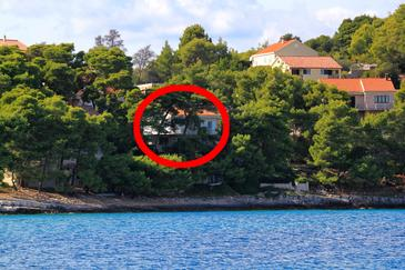 Lumbarda, Korčula, Objekt 135 - Ubytovanie blízko mora.