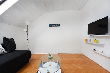 Zadar, Obývací pokoj v ubytování typu apartment, WiFi.