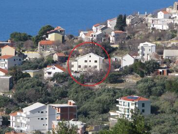 Igrane, Makarska, Objekt 13535 - Apartmani sa šljunčanom plažom.