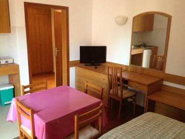 Srebreno, Столовая в размещении типа studio-apartment, Домашние животные допускаются и WiFi.