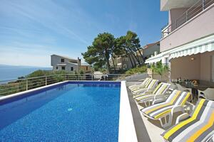 Апартаменты для семьи с бассейном Брела - Brela, Макарска - Makarska - 13592