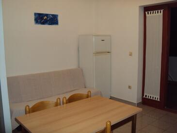 Zaton, Obývací pokoj v ubytování typu apartment, s klimatizací a WiFi.