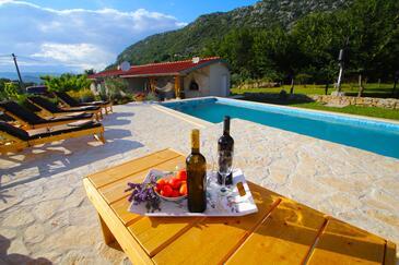 Zadvarje, Makarska, Property 13703 - Vacation Rentals with pebble beach.